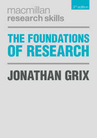研究調査の基礎(第3版)<br>The Foundations of Research〈3rd ed. 2019〉(3)