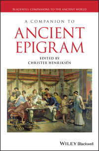 古代エピグラム必携<br>A Companion to Ancient Epigram