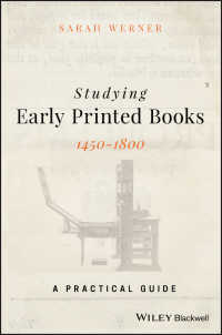 初期英語印刷本研究ハンドブック<br>Studying Early Printed Books, 1450-1800 : A Practical Guide