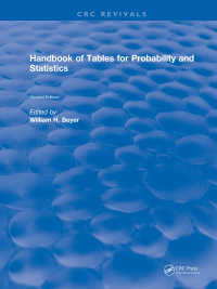 Handbook of Tables for Probability and Statistics(2 NED)