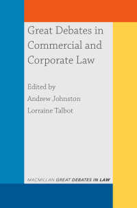 商法と会社法:重大論争<br>Great Debates in Commercial and Corporate Law〈1st ed. 2020〉